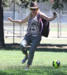 Exclusive... Jennie Garth & New Beau Michael Shimbo Watch Her Daughters Soccer Practice