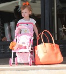 Jessica Alba & Family Shopping At Barneys New York