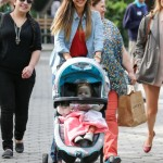 Jessica Alba Takes A Break From Fashion Week To Bond With Haven