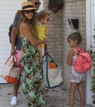 Jessica Alba Spends Labor Day Weekend In Malibu With Her Family