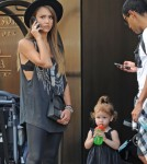 Jessica Alba & Haven Wait For A Cab In NYC