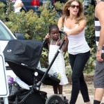Jillian Michaels: Malibu Cook-Off With Her Babies