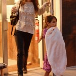 Katie Holmes Takes Suri's Mind off of Her Injury With Some Pampering
