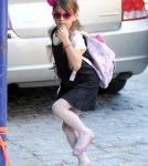 Suri Cruise Rocks Hot Pink Shades in New York