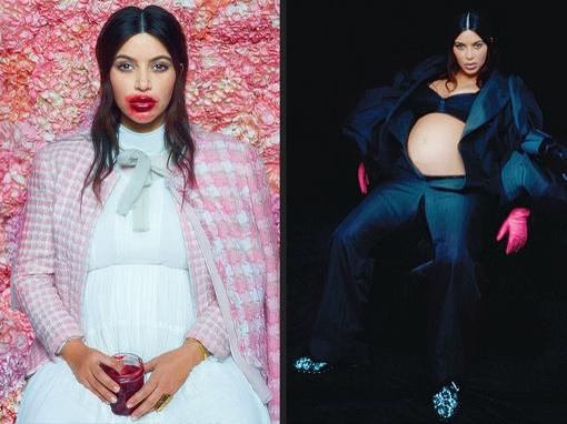 Kim Kardashian's High-Fashion Pregnancy Photoshoot By Karl Lagerfeld
