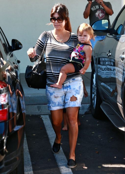 Kourtney Kardashian Takes Her Kids To A Birthday Party