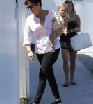 Kris Jenner Out With Her Grandkids In Malibu