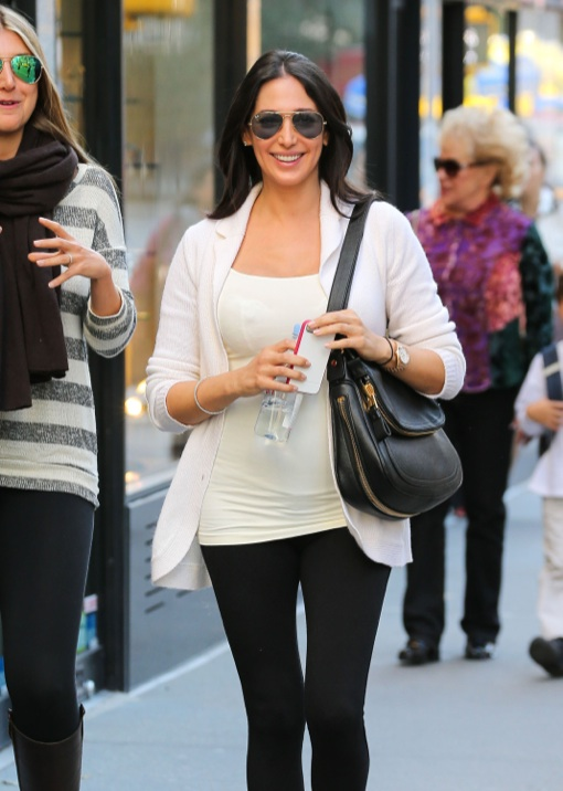 Lauren Silverman Is Glowing While Out Shopping In NYC