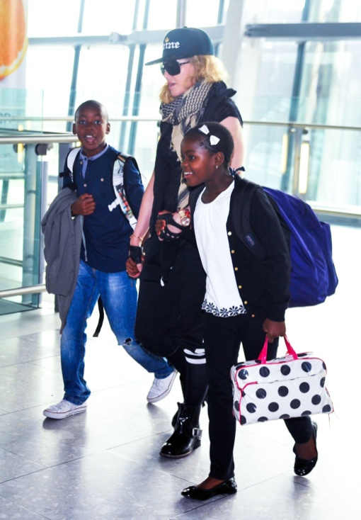 Madonna: Big Apple Bound With Her Children