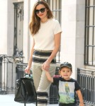Miranda Kerr & Flynn Step Out In New York