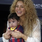 Shakira & Milan Cheer on Gerard Pique at FC Barcelona Game