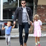Ben Affleck Spends The Day With His Girls