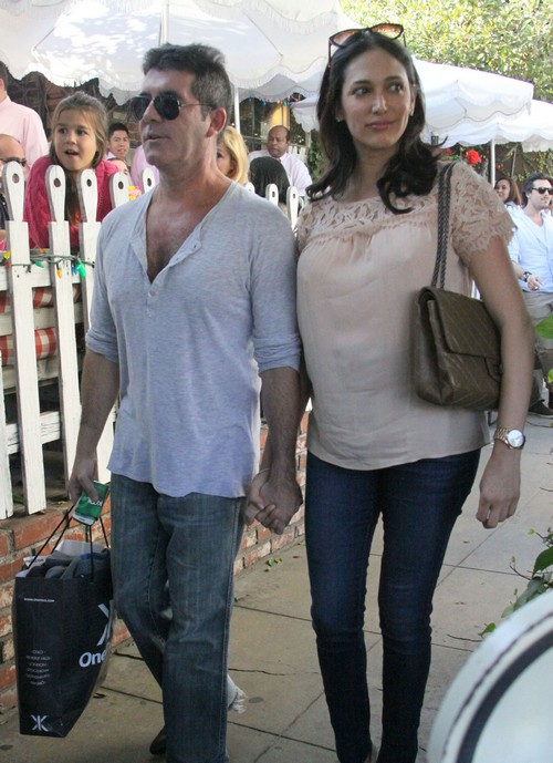 Simon Cowell & Lauren Silverman Lunch At The Ivy