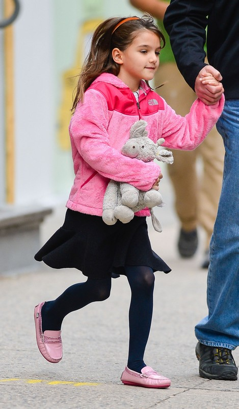 Suri Cruise Leaving A Building In New York