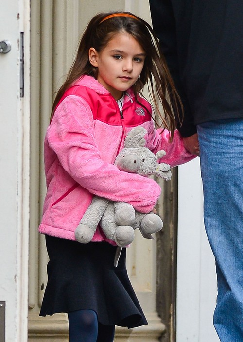Suri Cruise And Her Security Guard Out In New York City