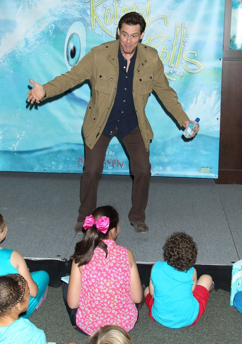 "Jim Carrey Promotes His New Children's Book ""How Roland Rolls"" (PHOTOS)"