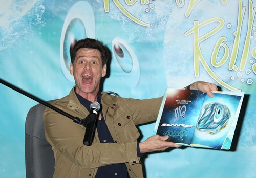 Jim Carrey Signs Copies Of His New Children's Book 'How Roland Rolls'