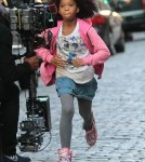 Stars On The Set Of 'Annie'