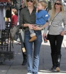 January Jones & Son Xander Out For Lunch