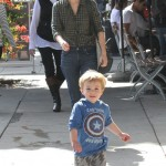 January Jones and Son Xander Spend Quality Time At Lunch Together