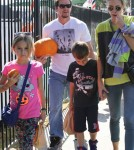 Mark Wahlberg & Family Visit Mr. Bones Pumpkin Patch