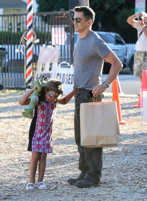 Olivier Martinez Takes Time Off From New Daddy Duties to Spend the Day With His Stepdaughter