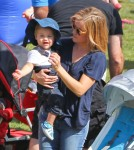 Exclusive... Reese Witherspoon & Family Attend The Brentwood Corn Festival