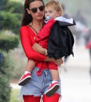 Sexy Devil Alessandra Ambrosio Takes Her Kids To A Fair