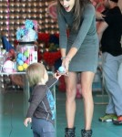 Alessandra Ambrosio Takes Her Son To A Balloon Store