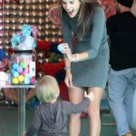 Alessandra Ambrosio: Balloon Fun With Noah