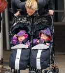 Anna Paquin Takes Her Twins For A Stroll In NYC