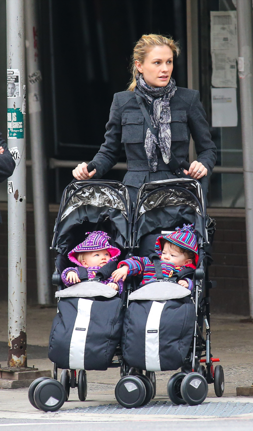 Anna Paquin: East Village Stroll With Her Twins