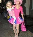 Bethenny Frankel & Bryn Head To Dinner In Their Princess Costumes