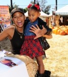 - Los Angeles, CA - 10/11/2013 - Christina Milian and daughter Violet helped Pillsbury make Halloween sweet at Mr. Bones Pumpkin Patch.-PICTURED:  Christina Milian with daughter Violet-PHOTO by: Michael Simon/startraksphoto.com-MS_165591Editorial - Rights Managed Image - Please contact www.startraksphoto.com for licensing fee Startraks PhotoStartraks PhotoNew York, NY For licensing please call 212-414-9464 or email sales@startraksphoto.com