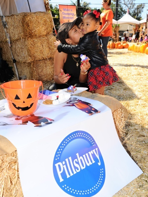Christina Milian helps Pillsbury make Halloween sweet at Mr. Bones Pumpkin Patch