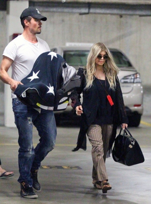 Josh Duhamel & Fergie Take Baby Axl To The Hospital