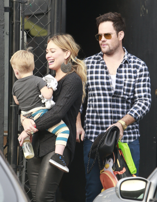 Hilary Duff & Family Lunch In West Hollywood