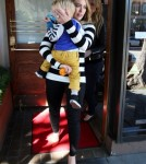 Hilary Duff Lunches At Madeo With Her Family