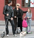 Hugh Jackman Walks Ava To School