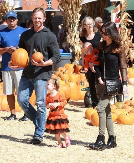 Ian Ziering & Family Visit Mr. Bones Pumpkin Patch