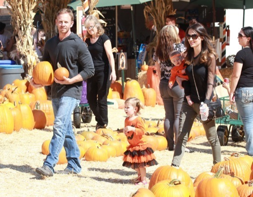 Ian Ziering & Family Pick Pumpkins