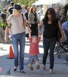January Jones Takes Xander To A Baby Class