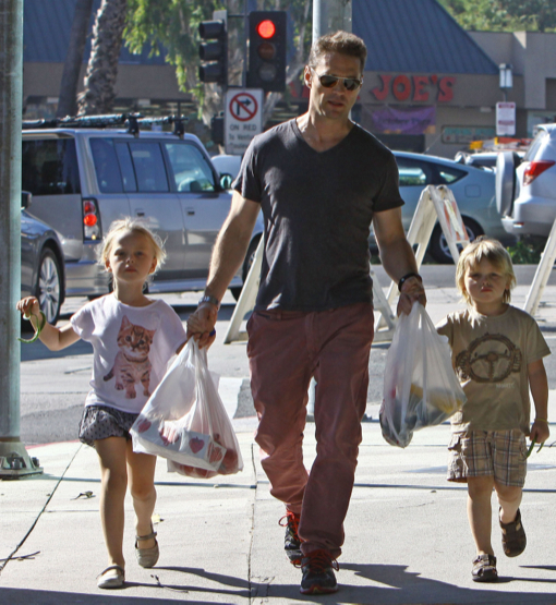 Jason Priestley Takes His Kids To The Farmer's Market