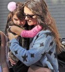 Katie Holmes Picks Suri Up From School