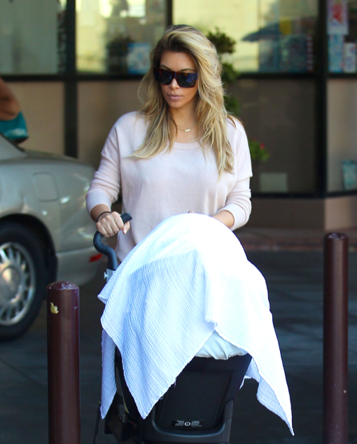 Semi-Exclusive... Kim Kardashian & Kanye Take North To The Doctor