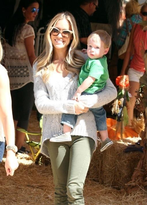 Kristin Cavallari: Pumpkin Patch Day With Camden