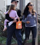 Exclusive... Matt Damon Out And About In LA With His Family