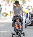 Miranda Kerr Takes Flynn Out In New York