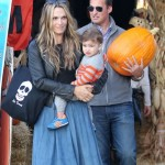 Molly Sims & Family Spend The Day at the Pumpkin Patch