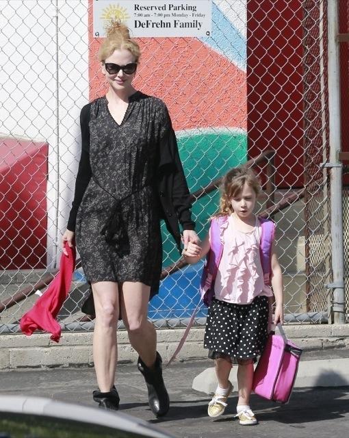 Nicole Kidman Picks Sunday Up From School